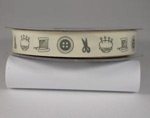Лента хлопковая с рисунком, ширина 16 мм, рулон 20 ярдов = 18 метров, Арт. ХЛР-CP1004
