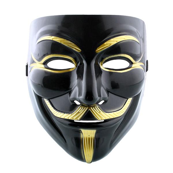 Маска Анонимус (черная)