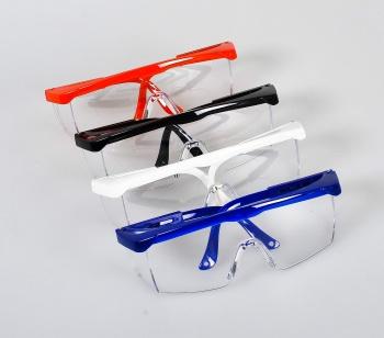 Очки защитные пластиковые (белые, черные, синие)