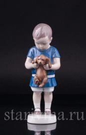 Мальчик со щенком, Bing & Grondahl, Дания, 1940-50 гг., артикул 02718