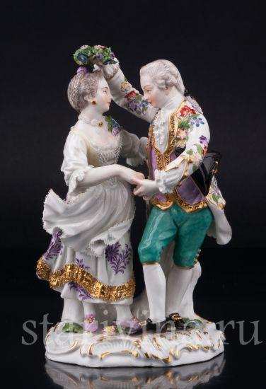 Изображение Танцующая пара с венком, Meissen, Германия, 19 в