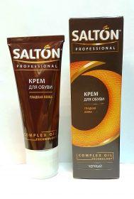 SALTON Professional крем для обуви с норковым маслом в тубе 75 мл чёрный/12/