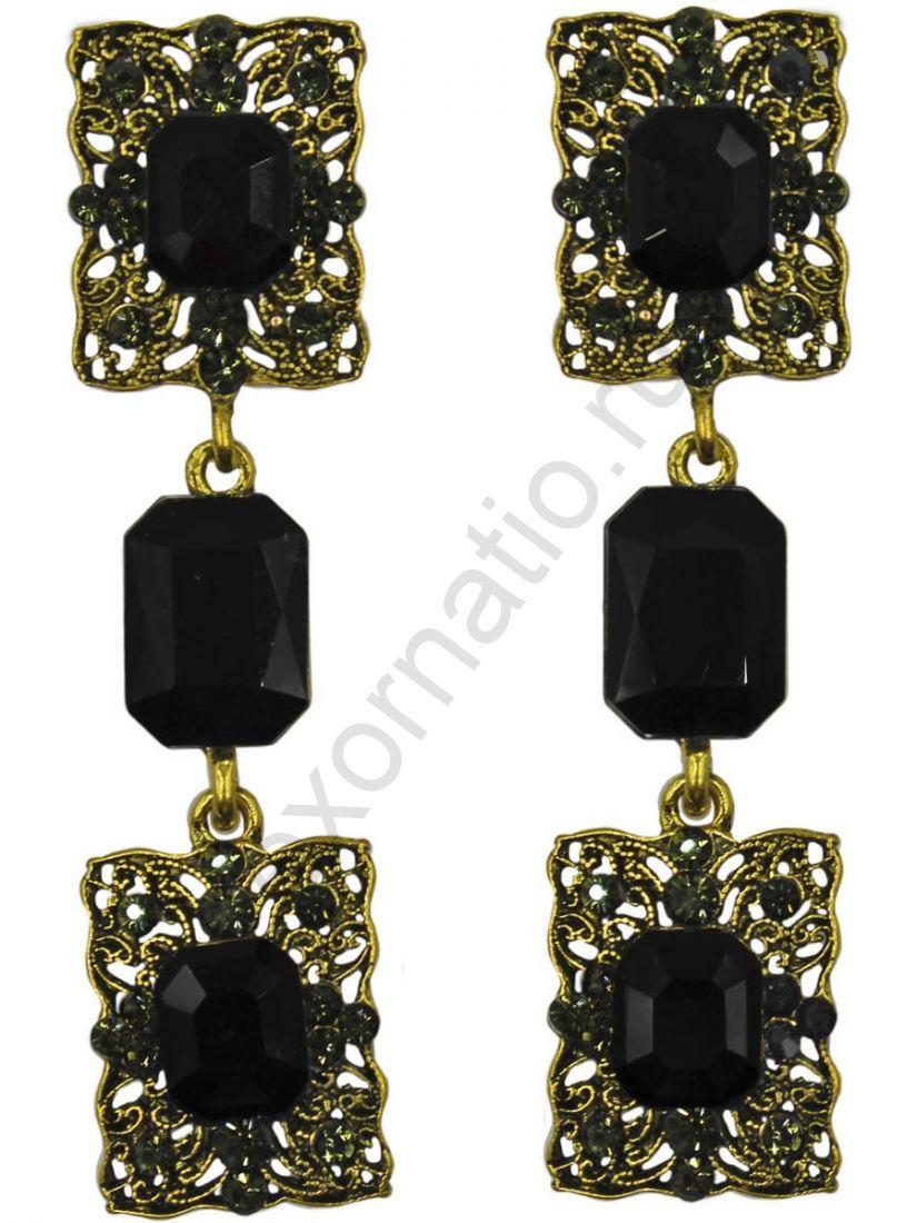 Серьги Taya LX T-B-11320 EARR GL.BLACK