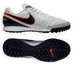 Шиповки-сороконожки Nike Tiempo Genio II Leather TF белые