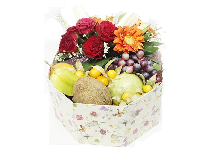 Фруктово-цветочная коробка Райский сад