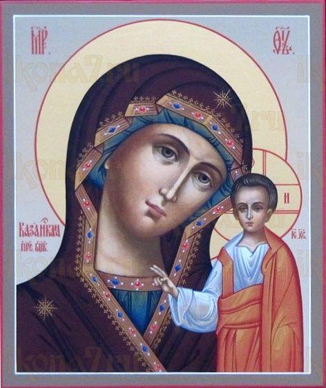Венчальная пара 20. Казанская БМ (рукописная икона)