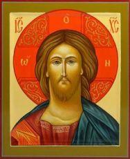 Венчальная пара 19. Спаситель (рукописная икона)