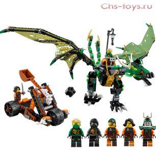 Конструктор Lari Ниндзя Зелёный дракон 10526 (70593) 603 дет