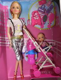 Кукла Барби (Barbie) с дочкой-малышкой и коляской