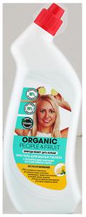 Гель-Эко для мытья туалета с органическими эфирными маслами лимона и мяты 750 мл Organic People & Fruit