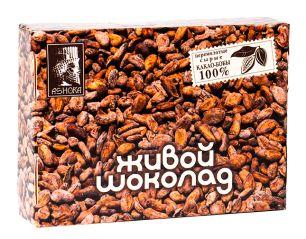 Плитка перемолотых какао бобов Живой шоколад Живой Продукт