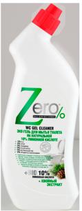Гель для мытья туалета лимонная кислота  хвойный экстракт Zero