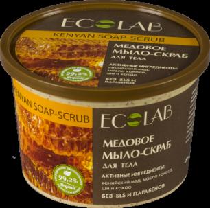 """Мыло-скраб для тела """"Медовое"""" 450 мл., Ecolab"""