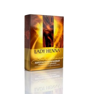 Золотисто-коричневый - натуральная краска для волос LADY HENNA