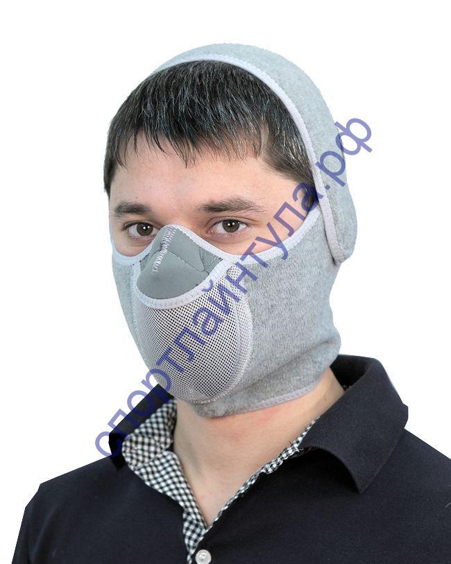 Тепловая маска Шарф арт. ТМ 3.1. (серый) САЙВЕР|SAYVER