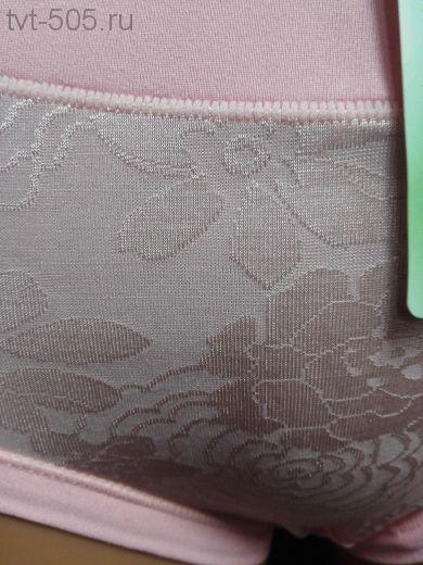 Трусы бамбук 035 розовые (высокий бок)