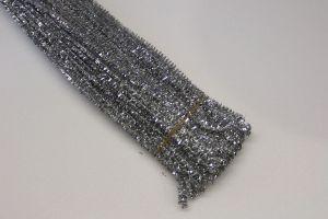 Синельная проволока, блестящая, 5мм х 300мм, цвет серебро (1уп = 100шт)