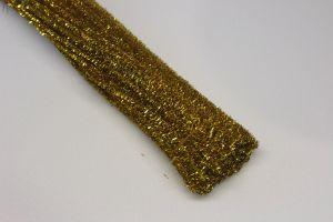 Синельная проволока, блестящая, 5мм х 300мм, цвет золото (1уп = 100шт)