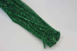 `Синельная проволока, блестящая, 5мм х 300мм, цвет зеленый (1уп = 10шт)