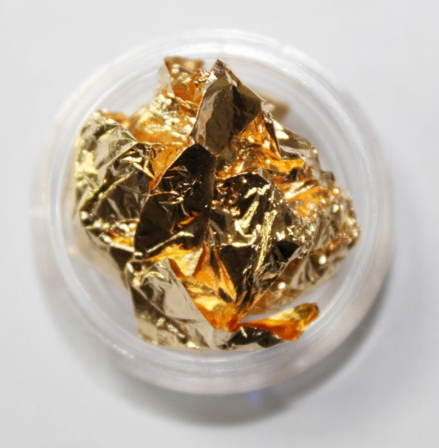 Слюда золотая для дизайна ногтей