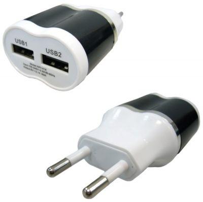 Вилка 2 USB Орбита BS-2033 (2000mA,5V)