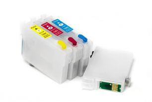 Комплект перезаправляемых картриджей для EPS S22/SX125 (белая упаковка)