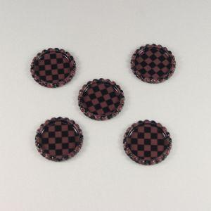 `Крышка, металл, внутренний диаметр 25 мм, наружный 31 мм, цвет №41