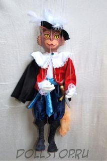 Чешская кукла-марионетка Кот в сапогах -  Kocour v botách (Чехия, Praha, Hand Made, авторы  Ивета и Павел Новотные)
