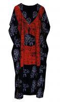 Длинное безразмерное индийское платье на кулиске. Подходит на большие размеры
