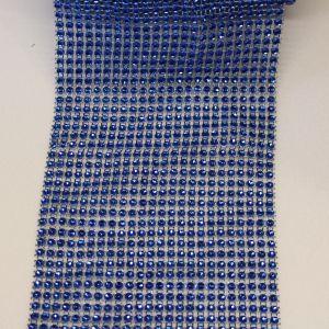 "Лента декоративная ""имитация страз"", ширина 12 см, длина 10 ярдов, цвет: синий"