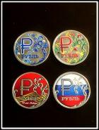 Набор 1 рубль 2014года, цветная эмаль, 4шт