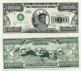 США 1 миллион долларов, сувенир, пресс