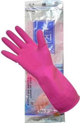 465219 Перчатки латексные хозяйственные удлиненные, с манжетой, размер XL, 42см * 22см