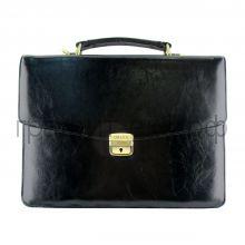 Портфель (кожа) Grand итал.гладкая кожа черный 01-031-0813