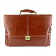 Портфель (кожа) Grand итал.гладкая кожа коньяк 01-060-0822