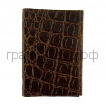 Обложка для паспорта Grand 02-006-3223 кайман коричневая кожа