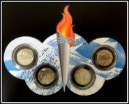 Подарочный набор Сочи в буклете из оргстекла, 4шт