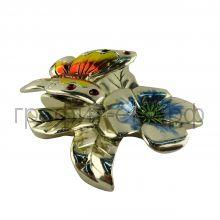Статуэтка Argenti Piu (Италия) Бабочка серебро-гальванопластика 9х9см 1224 АР