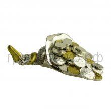 Статуэтка Valenti (Италия) Рог изобилия золотистый 13см серебро-гальванопластика 17044
