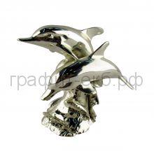 Статуэтка Argenti Piu (Италия) Пара дельфинов 12х9см серебро-гальванопластика 375