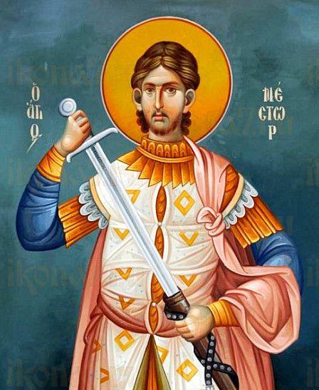 Икона Нестор Солунский (рукописная)