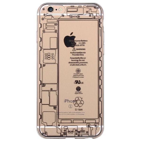 Силиконовый чехол для iphone 6/6s (плата iphone прозрачная)
