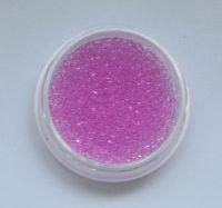 Бульонки для дизайна ногтей прозрачные (розовые), 5 грамм