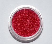 Бульонки для дизайна ногтей прозрачные (красные), 5 грамм