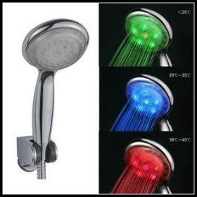 Светодиодная насадка на душ, контроль температуры 3 цвета (красный синий зеленый)