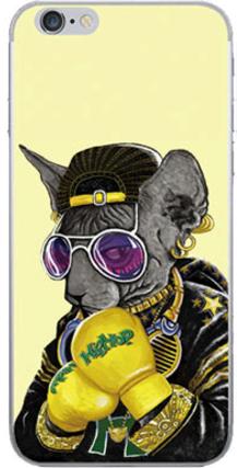 Силиконовый чехол для iPhone 6/6s ( Кот в золотых перчатках )