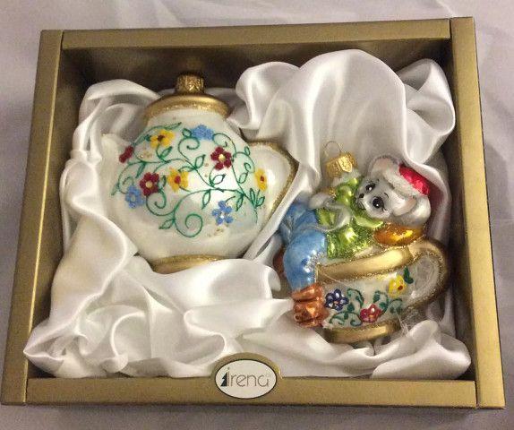 Ёлочные игрушки набор Мышонок и Чайник, Irena Co (Vitus)