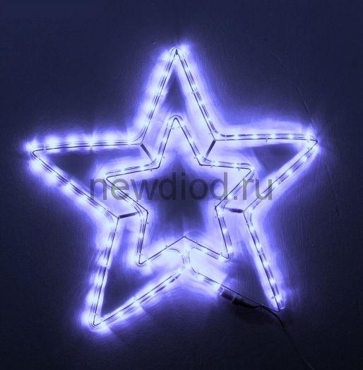 Звезда из дюралайта с контроллером 60 см. (Синяя)