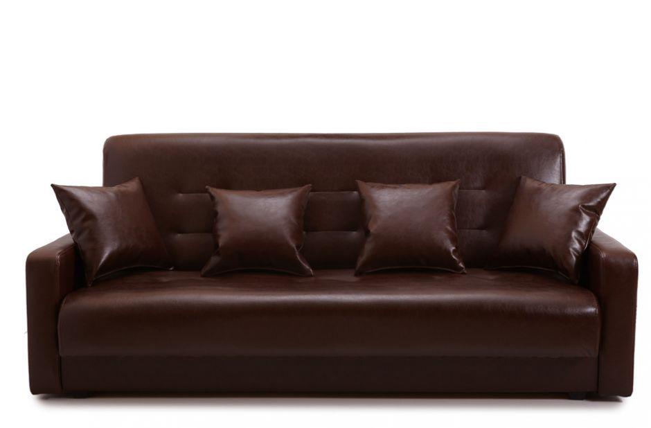 Диван-книжка Аккорд экокожа коричневая