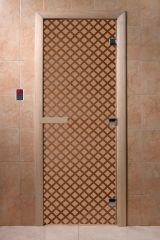 Дверь для бани DoorWood Мираж Бронза матовая